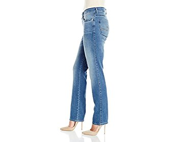 Lee Women's Modern Series Curvy Fit Charleston Straight Leg Jean Soar 14/Short
