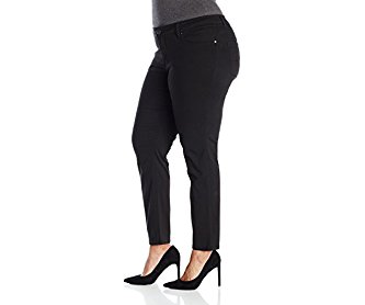 Lee Women's Plus-Size Modern Series Midrise Dream Jean - Faith Skinny Black 18W Petite
