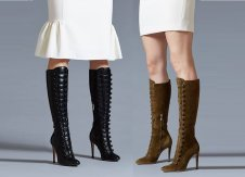 Command the room with these military knee high boots from Gianvito Rossi