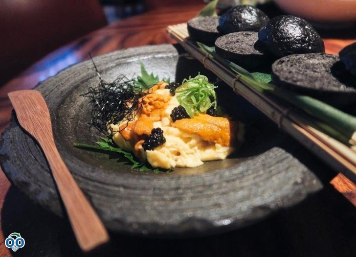 We like our scrambled eggs topped with uni caviar