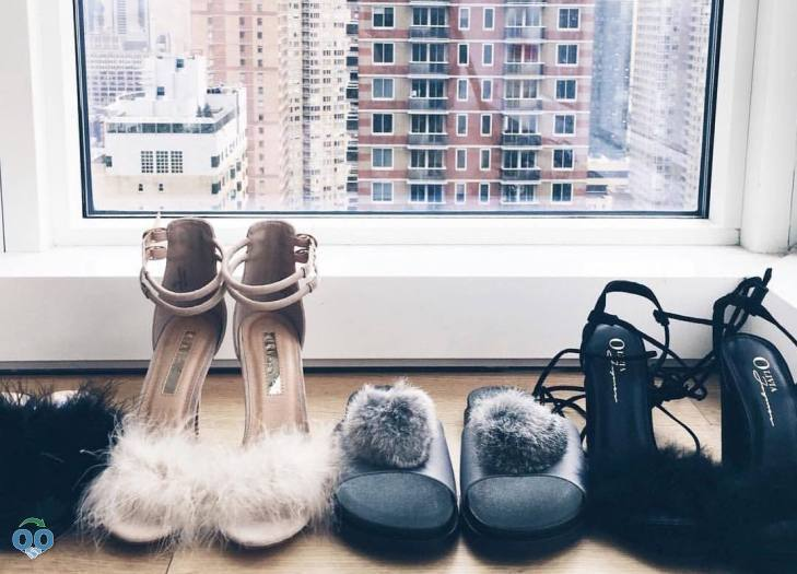Stay tuned for our collab with featuring our gorgeous feather + fur shoes.!