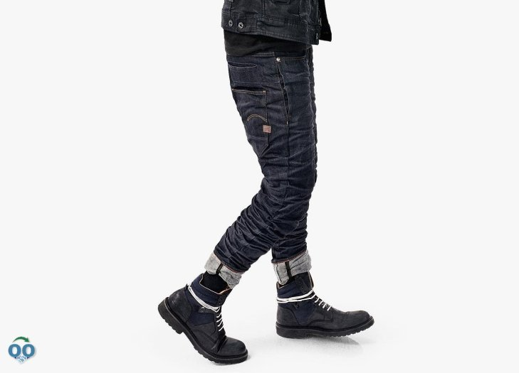 Combining two worlds, the staq merges elements of traditional jeans