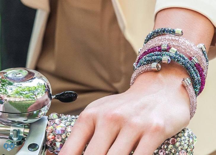 Crystaldust cuff and bangles, from Swarovski