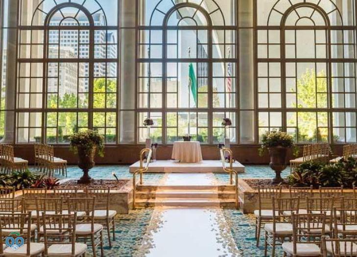 Garden Wedding Fairmont Olympic Hotel