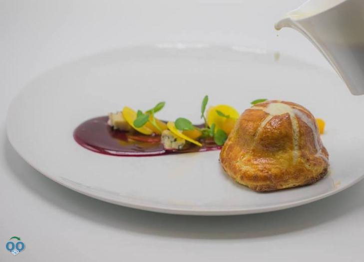Red Beets Roasted with Black Cardamon Baked in Puff Pastry, Daniel