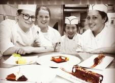 Dream Team Pastry in Action for service lead by our Sous Chefs Rebecca