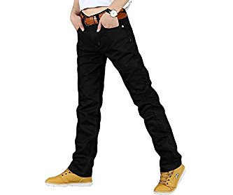 Designer Mens Jeans High Quality Fashion Black Denim Jeans Pants Trousers Black W32 X L34