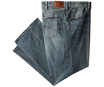 Lee Men's Big-Tall Modern Series Custom Fit Relaxed Straight Leg Jean Santiago 46W x 30L