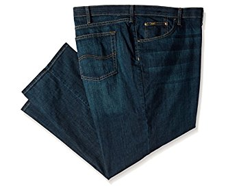 Lee Men's Big-Tall Premium Select Custom Fit Relaxed Straight Leg Jean Bowery 44W x 32L