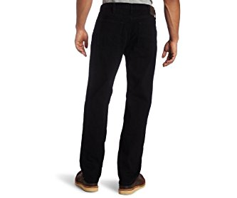 Lee Men's Regular Fit Straight Leg Jean Double Black 42W x 30L
