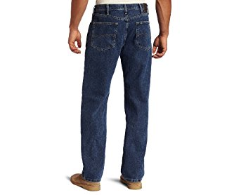Lee Men's Relaxed Fit Straight Leg Jean Medium Stone 38W x 29L